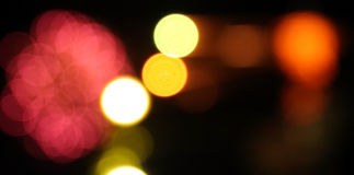Blur light abstract circular bokeh background Stock Image