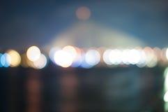 Blur light on the bridge Royalty Free Stock Photo