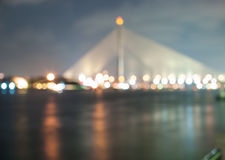Blur light of the bridge Stock Photo