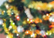 Blur light celebration on christmas tree Stock Photography