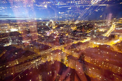 Blur light through city at night Royalty Free Stock Photo