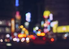 Blur colourful light City street at night royalty free stock images