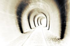 Blur light at the end of the tunnel Stock Photos