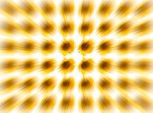 Blur light pattern speed motion volume effect yellow sunflower on white background, no crisp edge of center royalty free stock photography