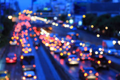 Blur light of traffic car. In the city Royalty Free Stock Images