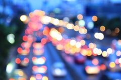 Blur light of traffic car. In the city Royalty Free Stock Photo