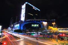 Blur light of Traffic at  MBK Center Thailand Stock Photos