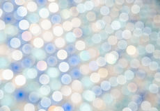 Blur lights. Defocused background white, blue Royalty Free Stock Images