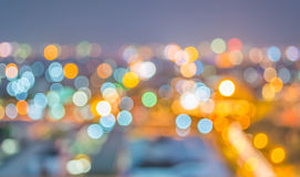 blur lights from Chiang Mai, Thailand for background usage . Royalty Free Stock Images
