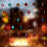 Blur lights city background Royalty Free Stock Photography