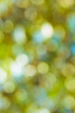 Blur lights , defocused background  green. Royalty Free Stock Photo