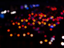 Blur lights at night Stock Photography