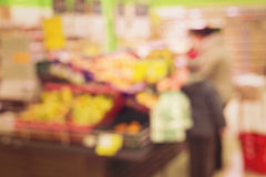 Blur market background Stock Image