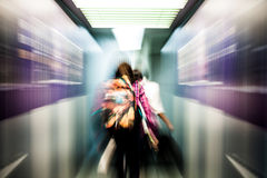 Blur motion of passengers walking Royalty Free Stock Photo