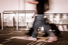 Blur motion of passengers walking at airport Royalty Free Stock Image