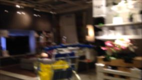 Blur motion for people shopping their furniture Stock Image