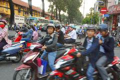 Blur of motorbike traffic Royalty Free Stock Image