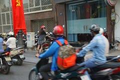 Blur of motorbike traffic Stock Photo
