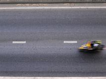 Blur motorcycle on the road Royalty Free Stock Image