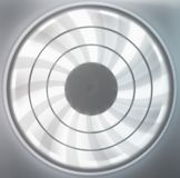 Blur moving ventilation, rotating fan blades. In white light royalty free stock photos