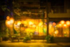 Blur night cafe warm place romantic abstract royalty free stock photos