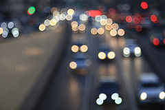 Blur night city with motion lights Royalty Free Stock Images