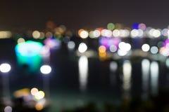 Blur night light view Stock Photo