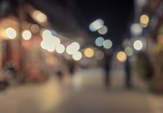 Blur night market, walking street Stock Photography