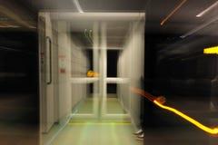 blur night rail station Στοκ Φωτογραφίες