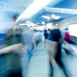 Blur passenger walk at subway Royalty Free Stock Photo