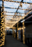 Blur pathway with  bokeh light Royalty Free Stock Photos
