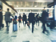 Blur People Businessman walking moving Train station Royalty Free Stock Photos