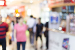 Blur people in supermarket Royalty Free Stock Photo