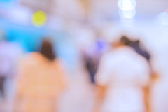 blur of People Walking in business center Royalty Free Stock Photography