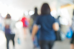 blur People Walking in the corridor of business center Royalty Free Stock Photography