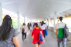 blur People Walking in the corridor of business center Royalty Free Stock Photos