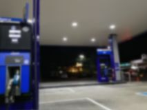 Blur petrol station royalty free stock images