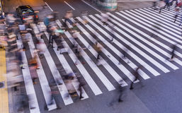 Blur Photography of Pedestrian crossing . Royalty Free Stock Images