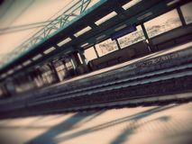 Blur of railway station Royalty Free Stock Photography