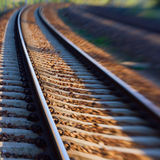 Blur of railway  track Stock Images