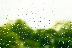 Blur rain drop on window Royalty Free Stock Image