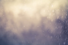 Blur of rainy day background with vintage color tone Royalty Free Stock Images