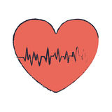 Blur Red Heart With Signs Of Life Stock Images