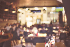Blur restaurant - vintage effect style picture Royalty Free Stock Images