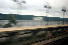 Blur of Riverdale station Royalty Free Stock Photo