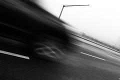 Blur on roadway  Royalty Free Stock Photo