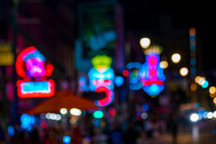 Blur shot of Beale street Royalty Free Stock Images