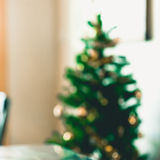 Blur shot decorate Christmas tree Stock Photos
