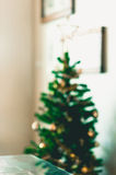 Blur shot decorate Christmas tree Royalty Free Stock Photos