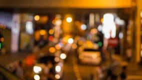 Blur neon shopping signs Hong Kong background defocus Royalty Free Stock Image